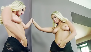 Marry Queen - Hot blonde is checking herself out in the mirror