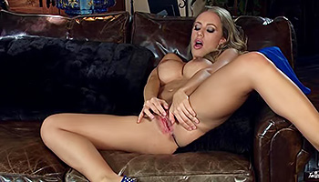 Nicole Aniston - Blonde and big breasted Milf in blue fingering