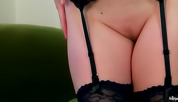Sovereign Syre - Sexy milf is in her black lingerie and she is feeling frisky