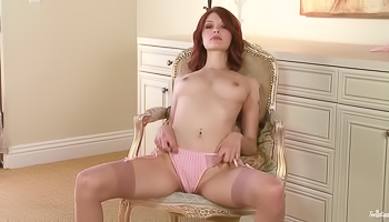 Bree Daniels - Redhead is spreading her legs in front of the camera
