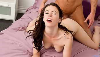 Veronica Radke - Hot couple is making a sexy scene on the bed