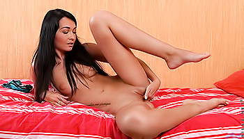 Mystika Nubiles - A dark haired abbe with pale eyes gets her cunt wet