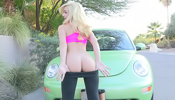 Jayde FTV - Blonde gets out of her clothes while outside