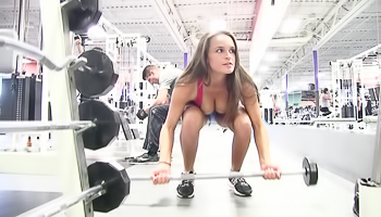 Teal FTV - A very sexy and sweaty workout in the gym