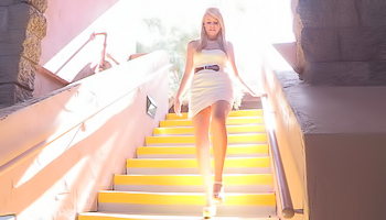 Alexis FTV - Blonde with puffy nipples and high heels is masturbating
