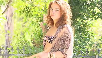 Blake FTV - Thin woman likes to get naked in the garden