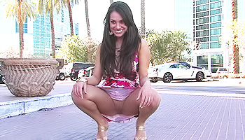 Shana FTV - Sexy brunette gets off while flashing her tits in public