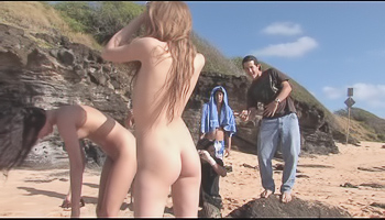Faye FTV - Two girls are fooling around naked at the beach