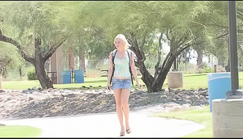Kate FTV - A woman is outside, showing us her sweet snatch