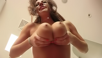 Katherine FTV - Busty women grabs a hold of her giant breasts