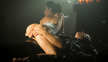 Eveline Neill - BDSM babe warps up her lover and fucks him hard
