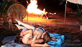 Jessie Andrews - Fire festival makes bitches wet and horny