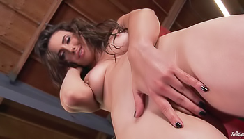 Casey Calvert - Brunette pulls down her panties and plays with herself