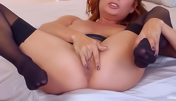 Ashlee Graham - Redhead with her high heels is masturbating