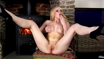 Tegan Jane - Chick with large puffy nipples spreads her legs