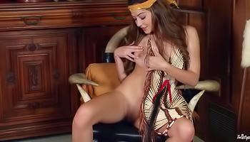 Cassie Laine - Cute babe is dressed as an Indian girl in this video