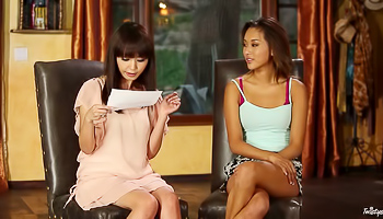 Alina Li - Couple of women are doing a hot interview here