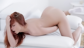 Mila Kit - Brunette with long hair is doing hot poses in bed