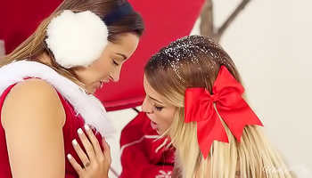 Dani Daniels - Two girls are having a hot Xmas party together