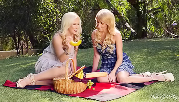 Penelope Lynn - A couple of horny blondes are making a picnic