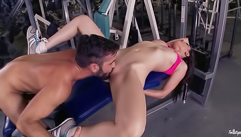 Casey Calvert - A couple has a sexy workout in the gym together